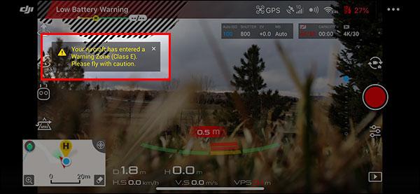 飞行时注意DJI GO中显示的信息