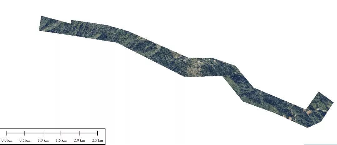 山区带状地形勘测