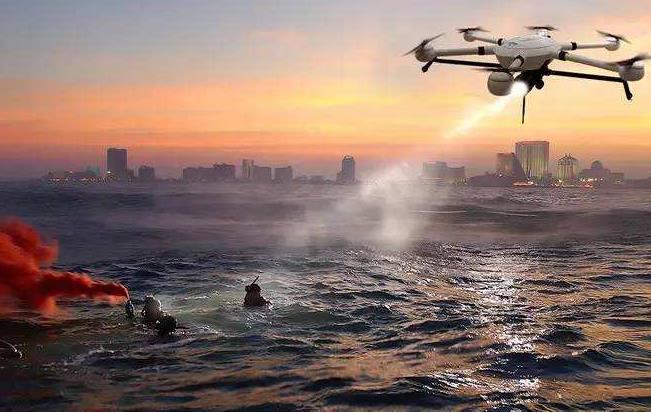 无人机协助灾后救援