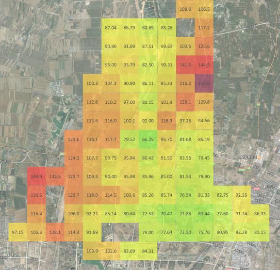污染物数据格栅图