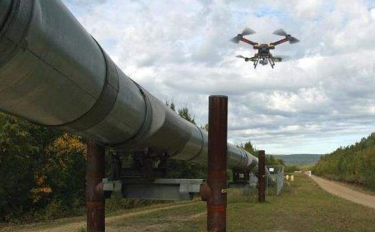 无人机监控石油和天然气