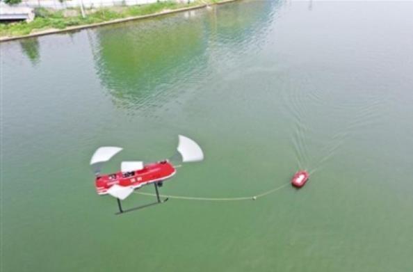无人机抛投救生器