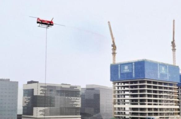 猎鹰消防无人机高空喷射灭火