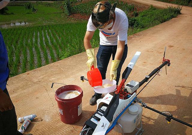 建议飞防植保中不要使用可湿性粉剂或者使用可湿性粉剂的浓度不要太高
