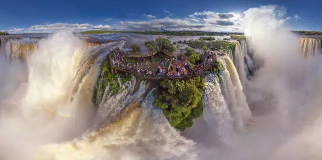 阿根廷的伊瓜苏瀑布