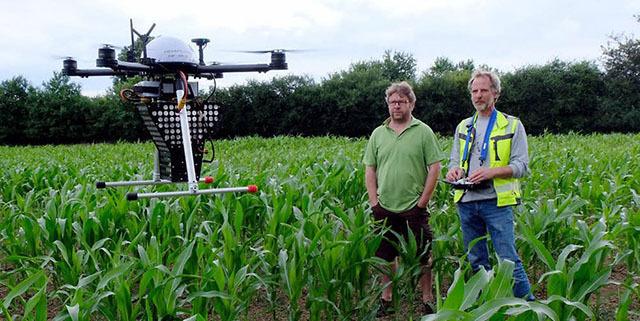 德国无人机投放害虫天敌保护玉米健康生长
