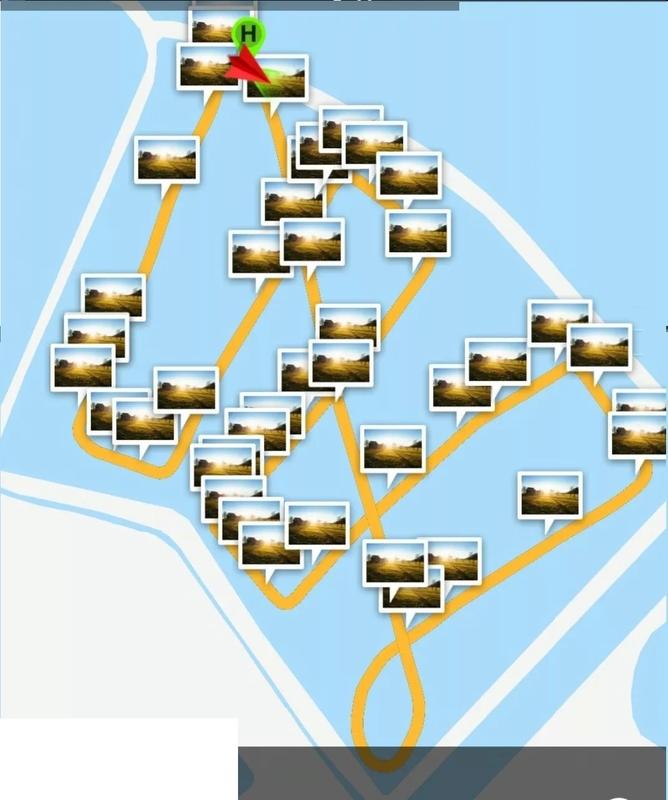 水库水面巡视路线示意图