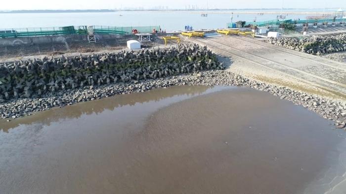 水库外侧滩面观测图