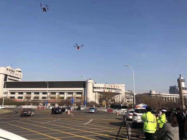 无人机交通管制拍摄现场