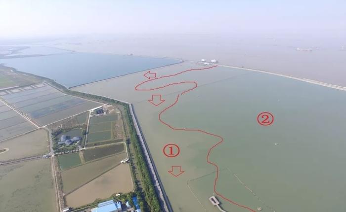 水库进水时水流变化观测图