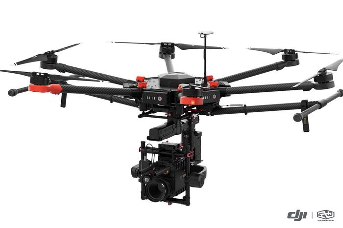 大疆M600搭载高分辨率云台相机