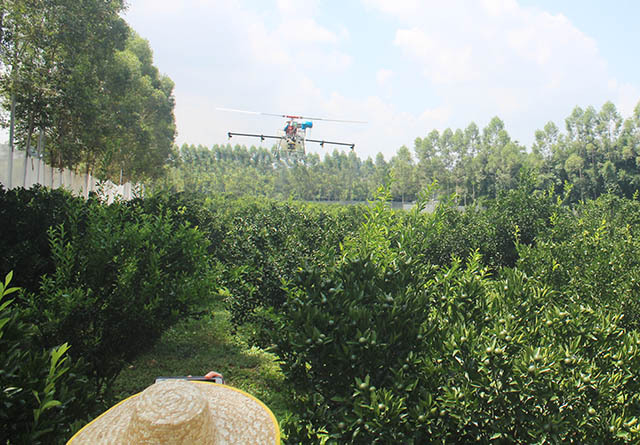 通过无人机喷洒农药