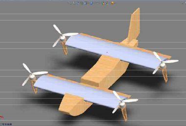 旋翼机模型的绘制