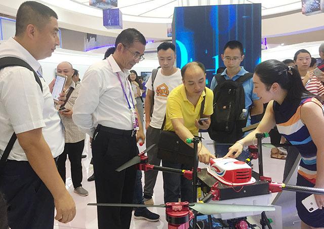 """中国国际智能产业博览会(简称""""智博会"""")在重庆国际博览中心举行"""