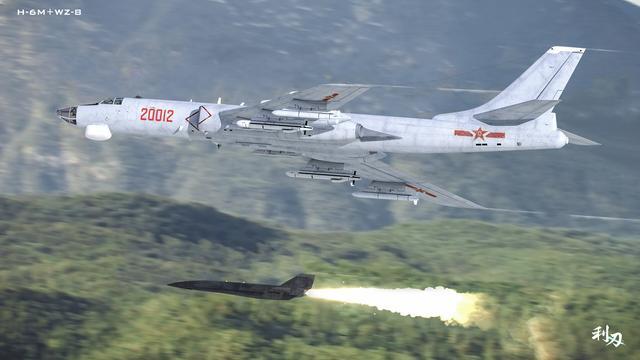 轰-6M空投无侦-8的CG图
