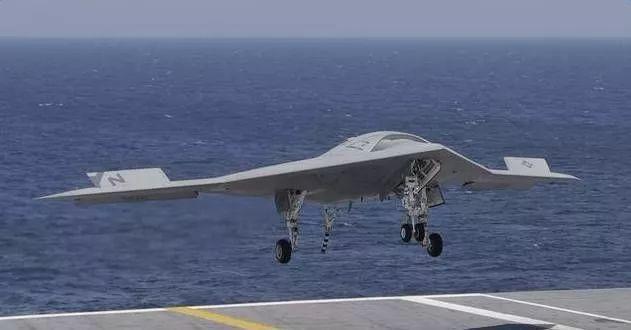 美国X-47B无人机航母降落