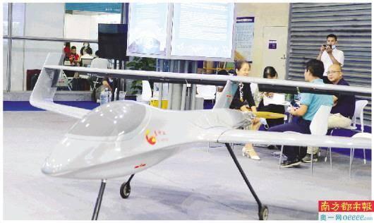 第五届深圳国际无人机展上展出的无人机。