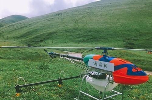 单旋翼植保直升机