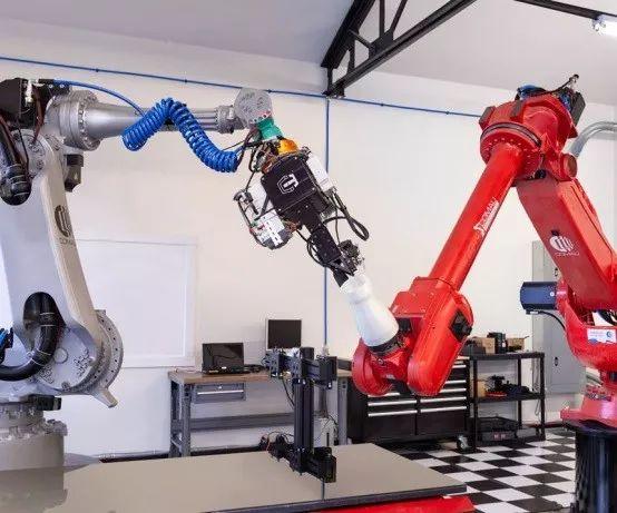 双机器人连续纤维3D打印机