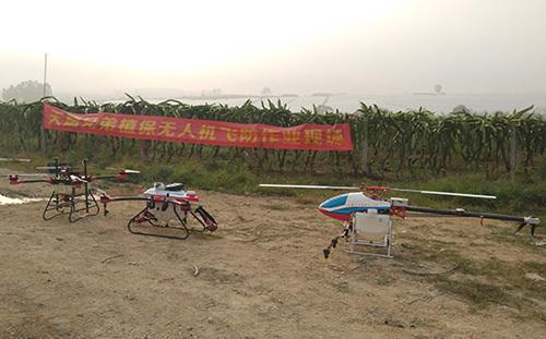昌江县利用植保无人机防控火龙果病虫害