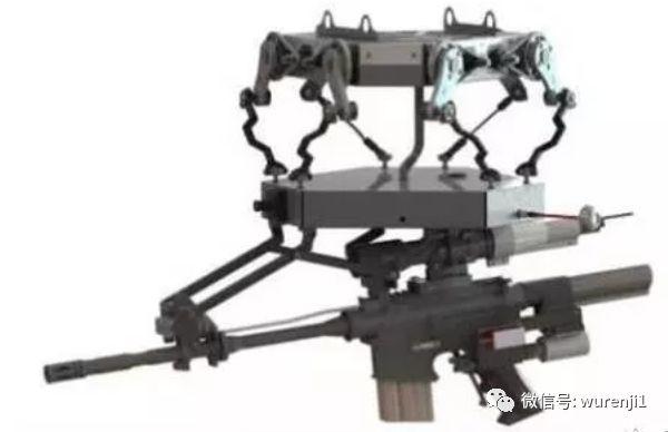 多轴无人机上挂载连发的冲锋枪