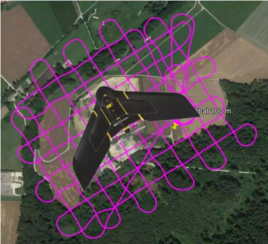 实际无人机作业轨迹如下: