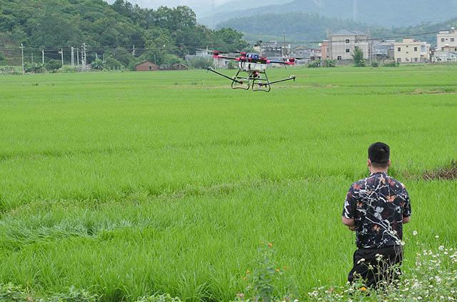 植保无人机统防统治水稻病虫害 成本低效率高