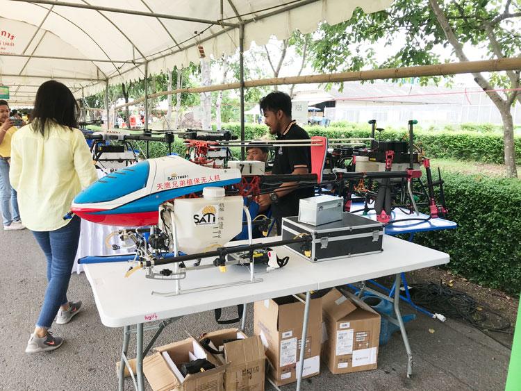 天鹰兄弟植保无人机在泰国的应用