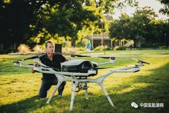 这架无人机-氢燃料电池供电的八旋翼无人机DS30。