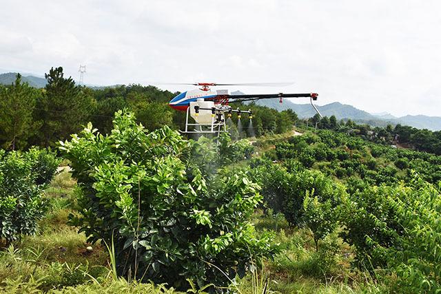 无人直升机喷洒技术采用喷雾喷洒方式,至少可以节约50%的农药使用量,节约90%的用水量,很大程度降低了资源成本。
