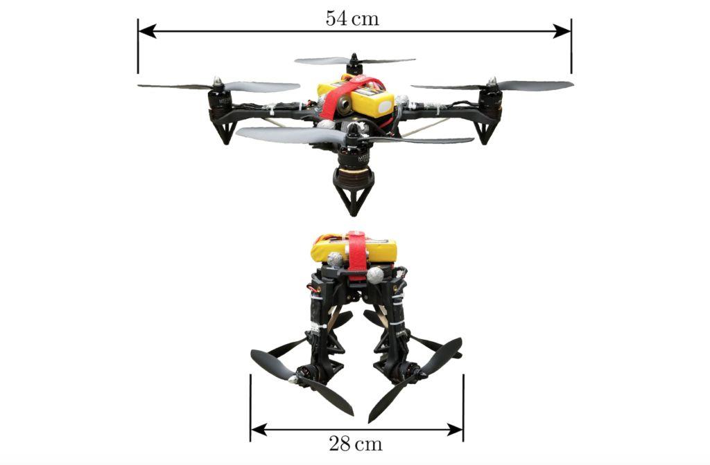 弹簧铰链容许飞行器的机臂向下折叠