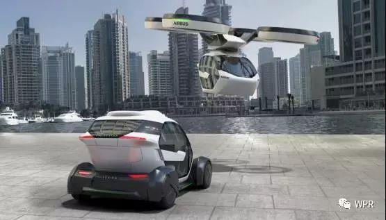 空客(Airbus)路上行驶的直升机