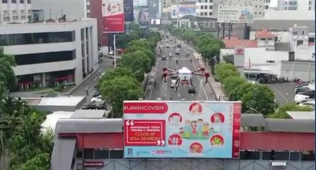 印尼泗水街道开展消杀工作
