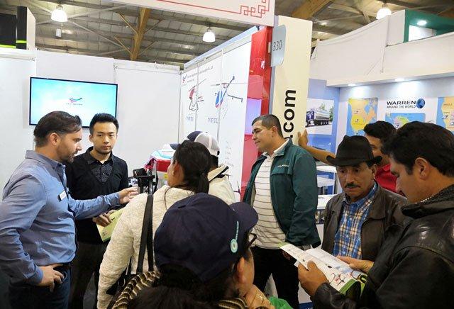 天鹰兄弟植保无人机亮相哥伦比亚国际农业展