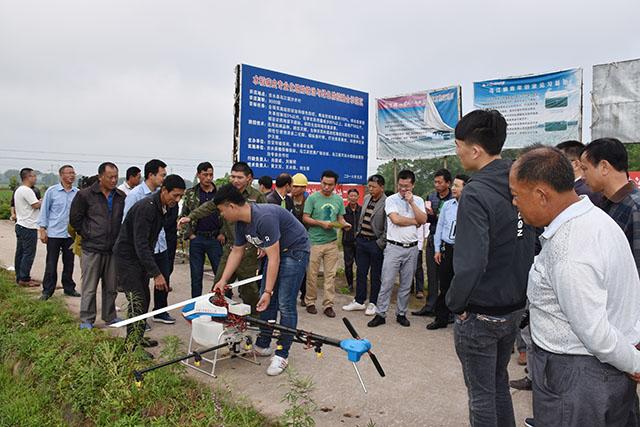 吉水县植保无人机助阵水稻病虫统防统治