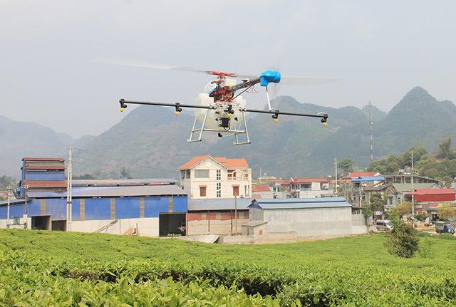 植保无人机助力越南茶园绿色增产