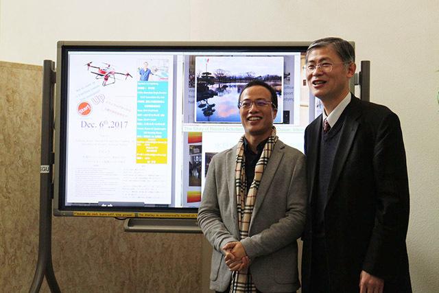 天鹰兄弟创始人李才圣赴日本高校交流访问