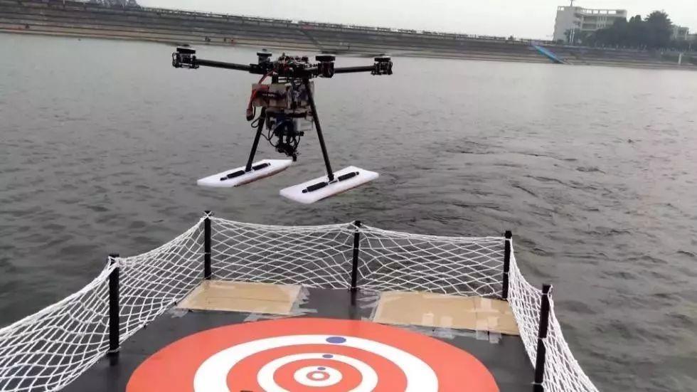 国内首次!华中科技大学无人机机艇协同运动起降