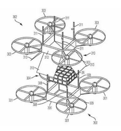 用无人机将物体提起时预期的水平