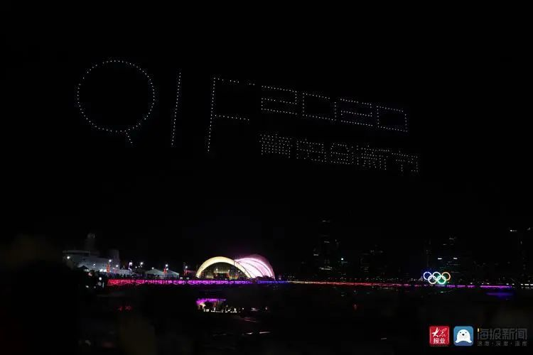 2020青岛创新节无人机灯光秀插图2