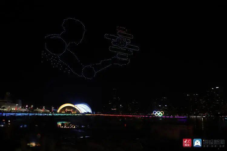 2020青岛创新节无人机灯光秀插图4