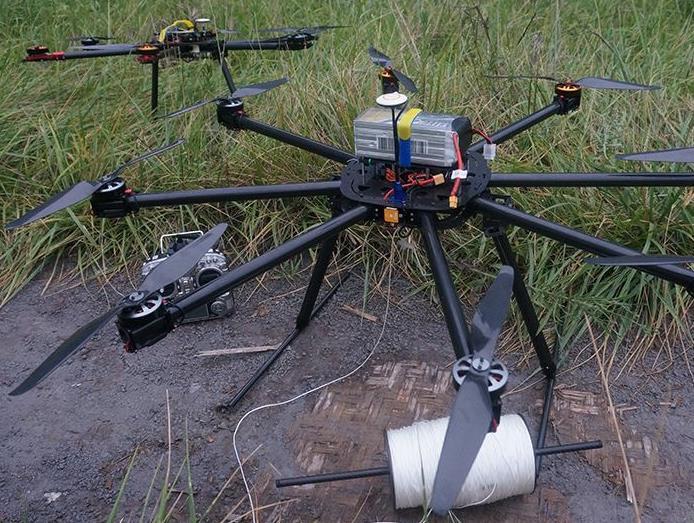 空中投放系统:一款动作机构,通过地面站进行控制;利用无人机的载物能力,实现空中投放任务。