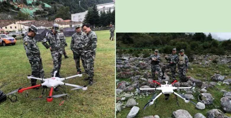 在危急情况下,救援人员利用无人机进行高空侦察,实时观察处置现场情况,并第一时间将实况反馈至指挥中心