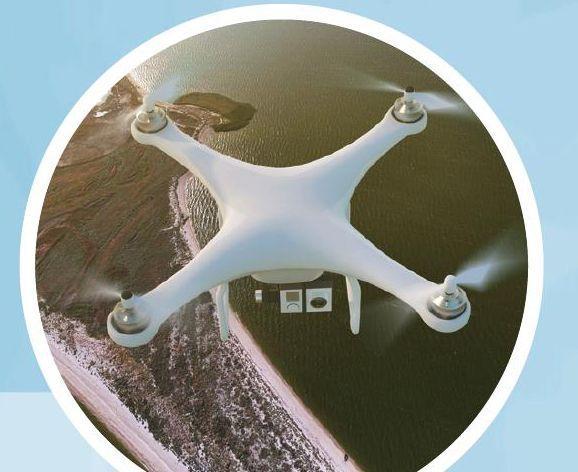 无人机航拍湖泊