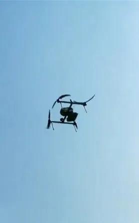 飞马D2000无人机试飞瞬间移动4米后悬停
